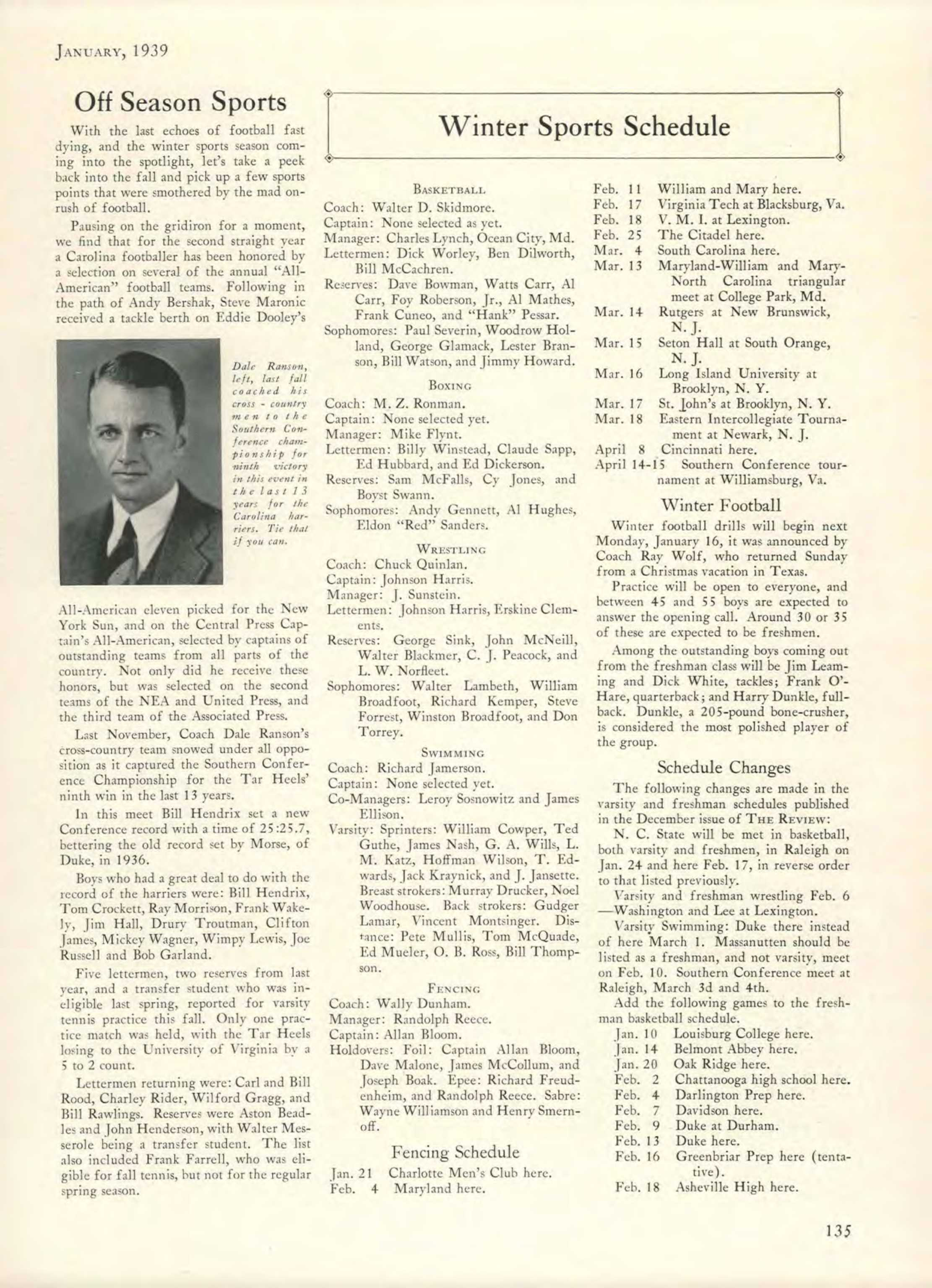 Carolina Alumni Review - January 1939 - page 136