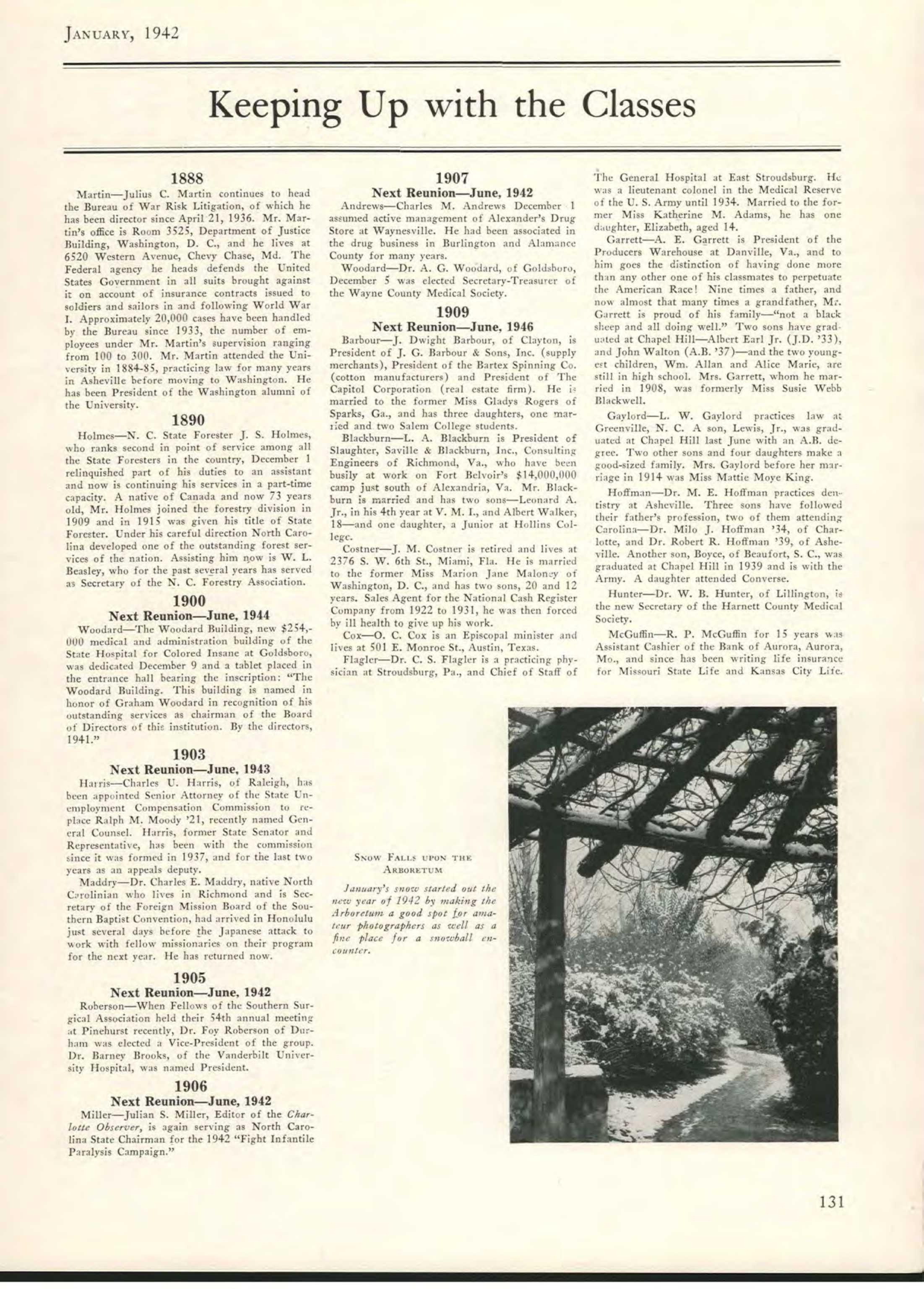 Carolina Alumni Review - January 1942 - page 131