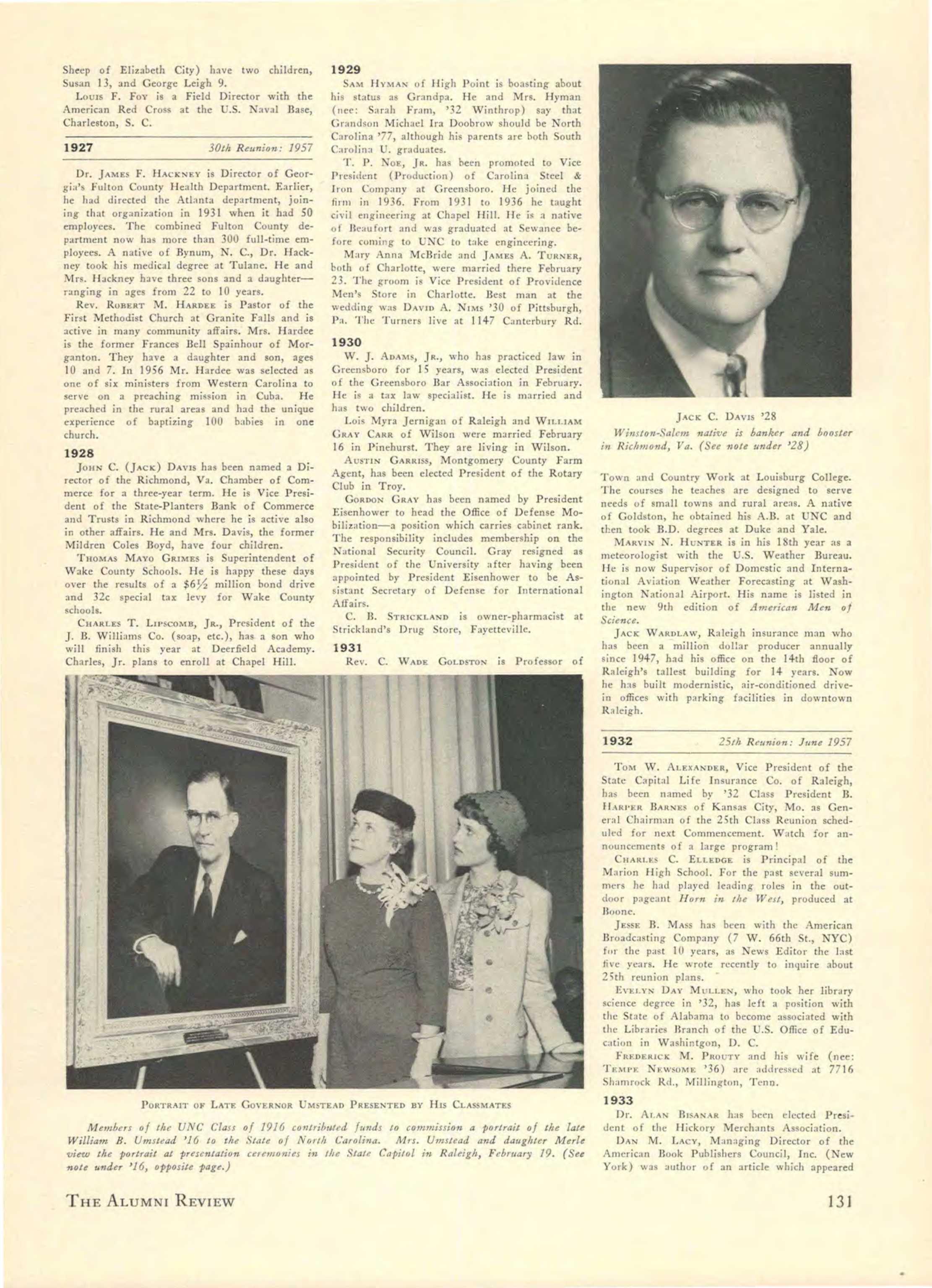 1957 THE CEREMONIES OF INAUGURATION OF BILL FRIDAY UNIVERSITY OF NORTH CAROLINA