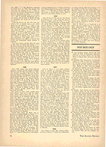 Carolina Alumni Review - Fall 1958 - page 76