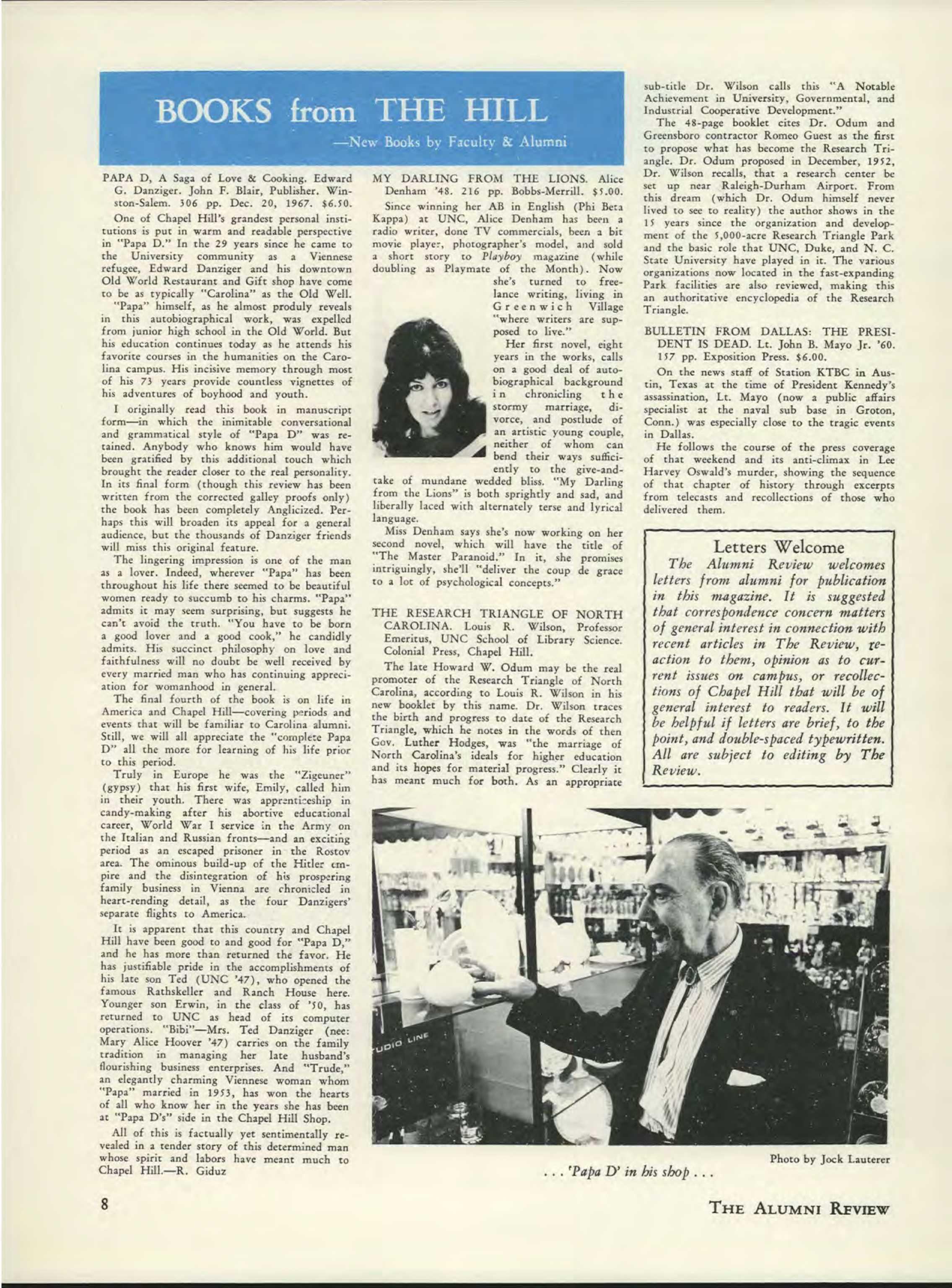 8d4488370dc09c Carolina Alumni Review - December 1967 - page 8