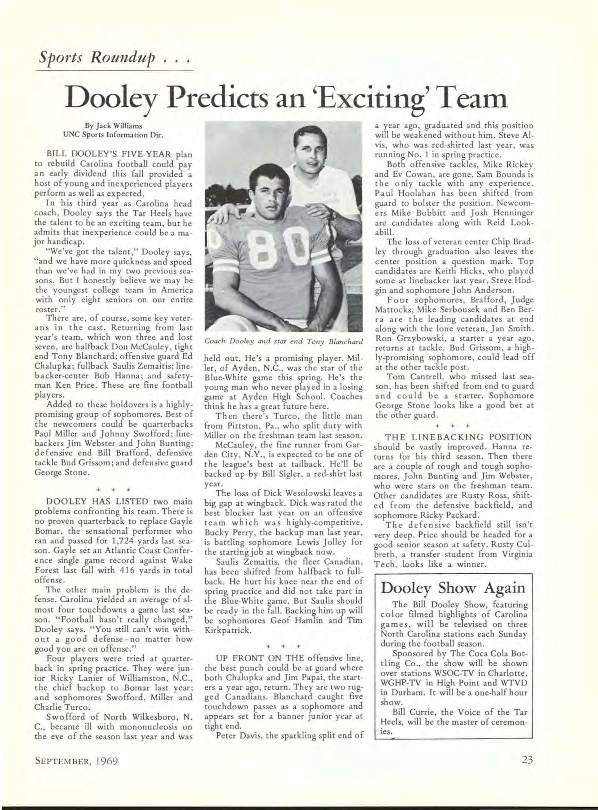 Carolina Alumni Review - September 1969 - page 22