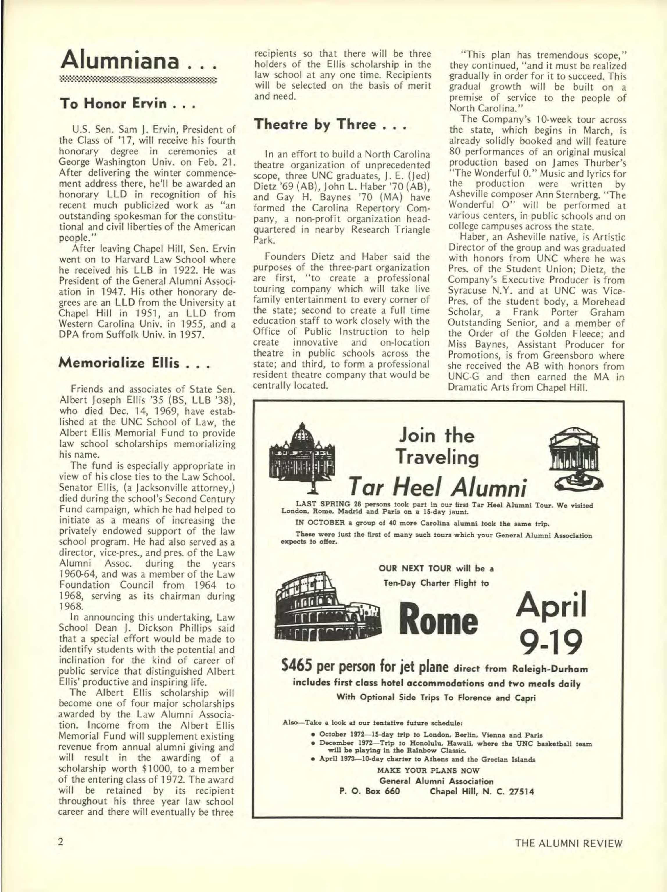 Carolina Alumni Review - January 1971 - page 2