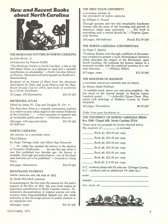 Carolina Alumni Review - November 1973 - page 8