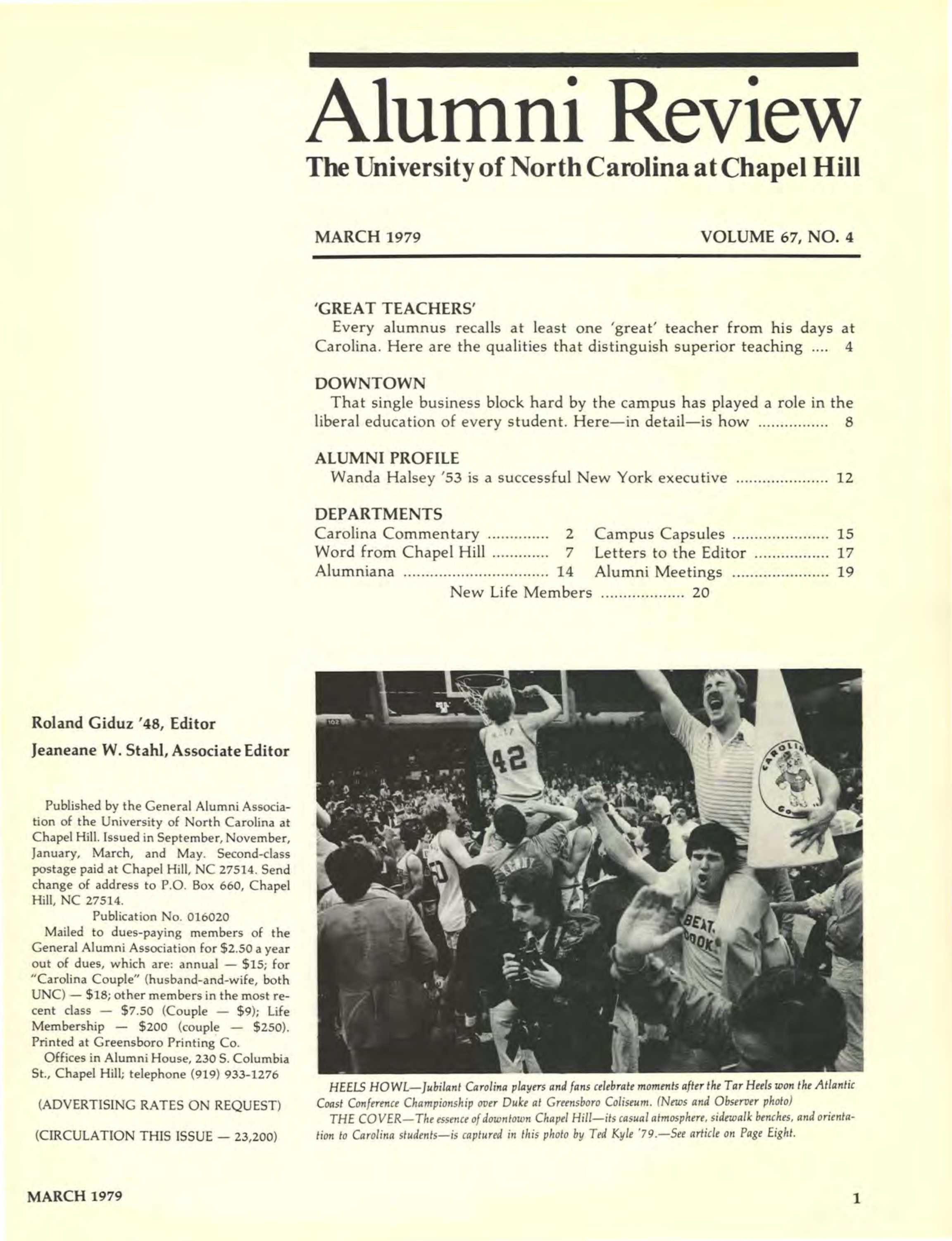 Carolina Alumni Review - March 1979 - page 1
