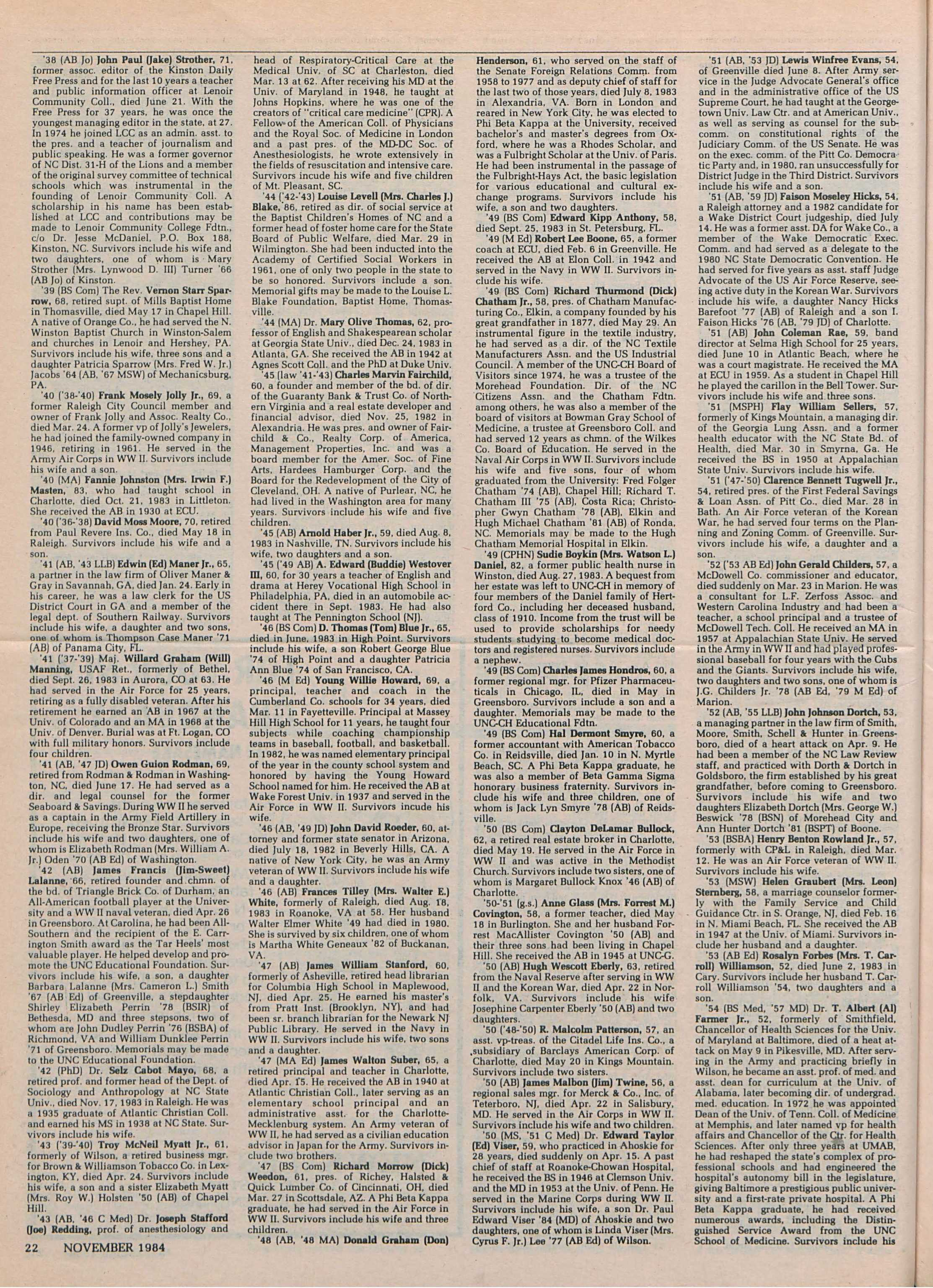 b49e231071a28 Carolina Alumni Review - November 1984 - page 22