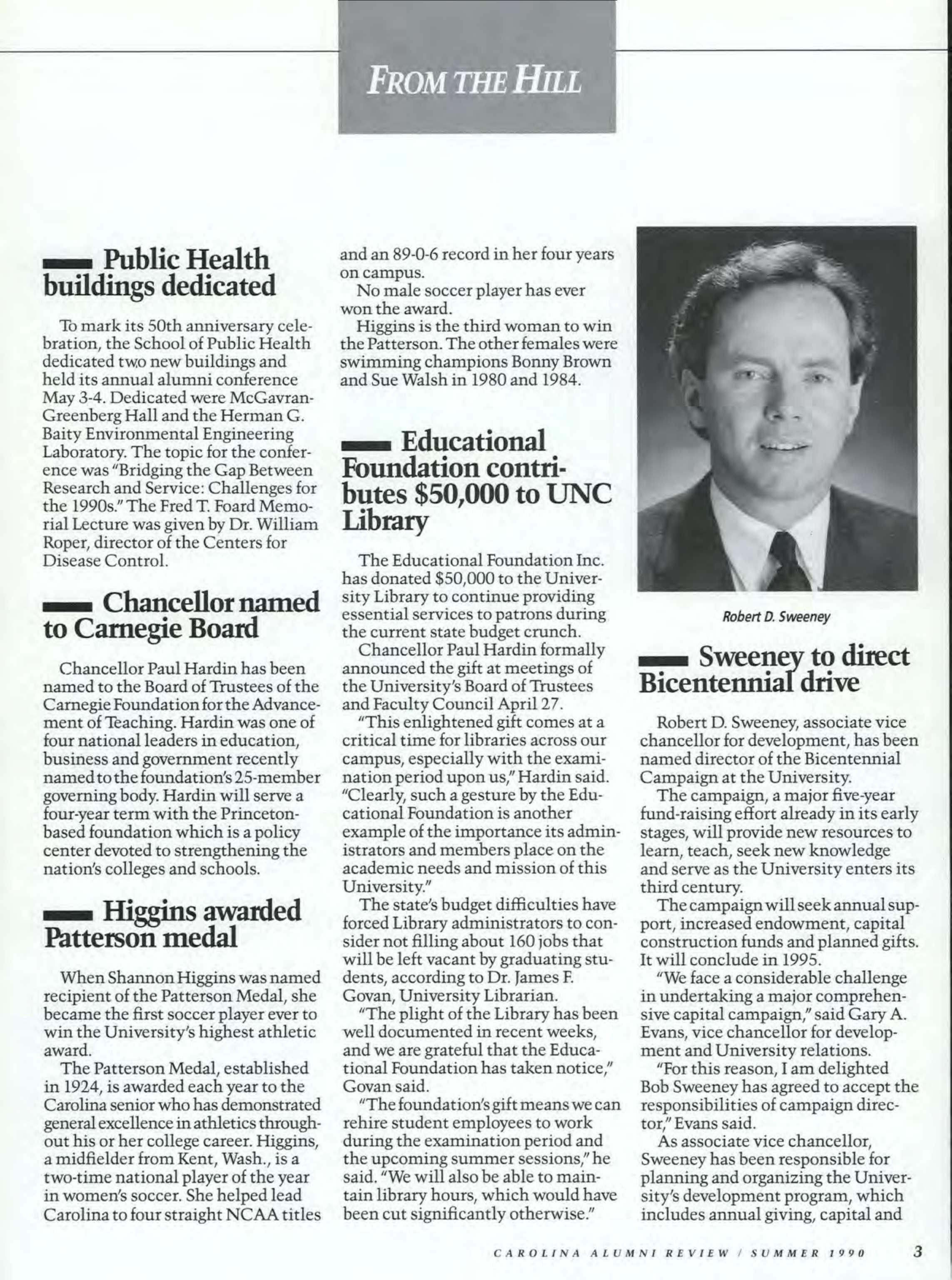 Carolina Alumni Review - Summer 1987 - page 2