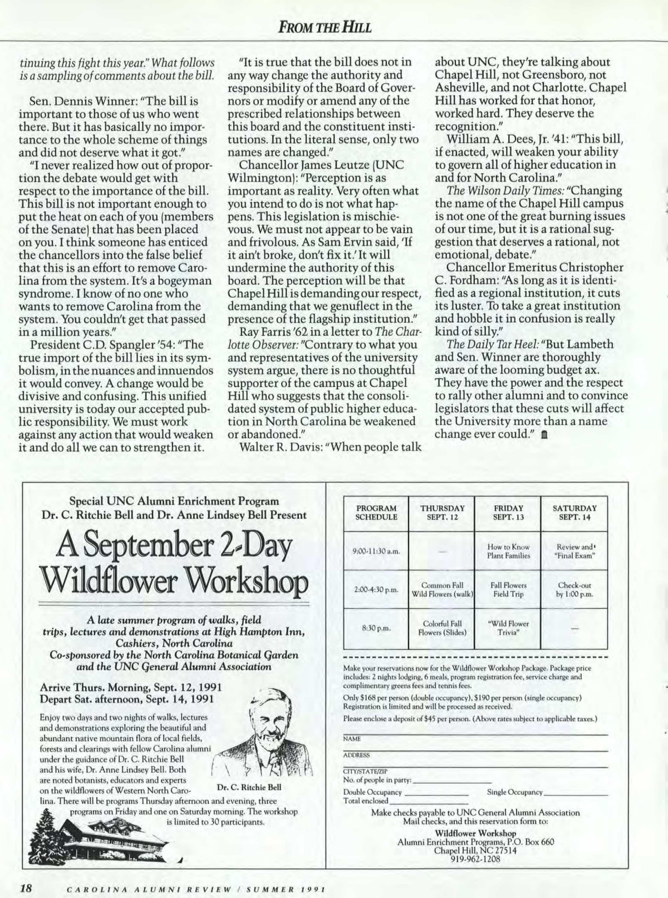 Carolina Alumni Review - Summer 1986 - page 18