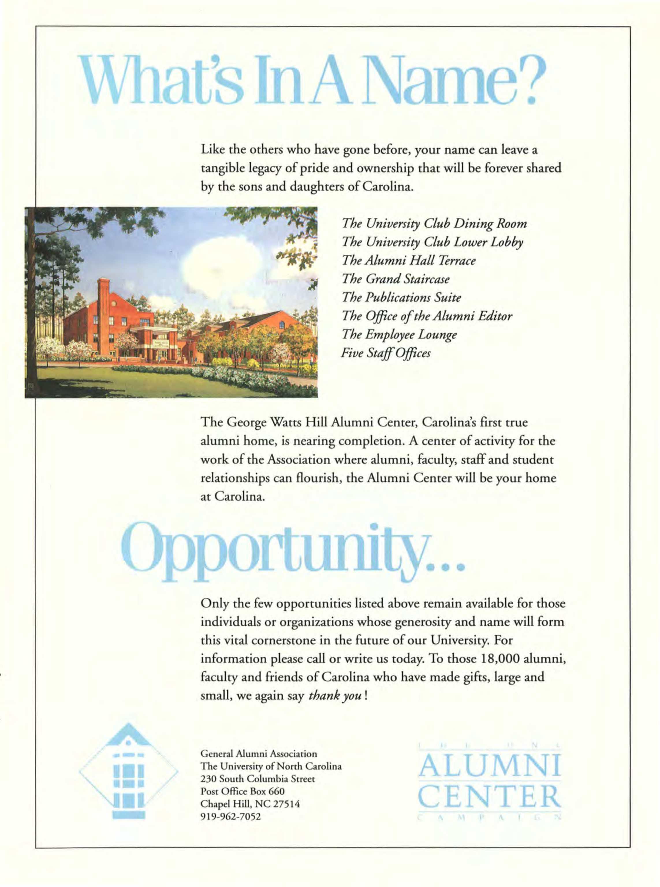 Carolina Alumni Review - Summer 1986 - page C3