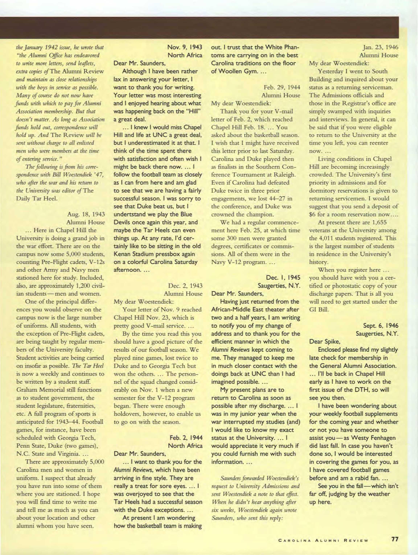 Carolina Alumni Review September October 1995 page 78