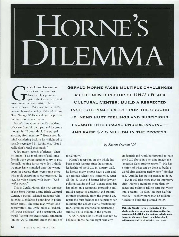Carolina Alumni Review - September/October 1996 - page 24