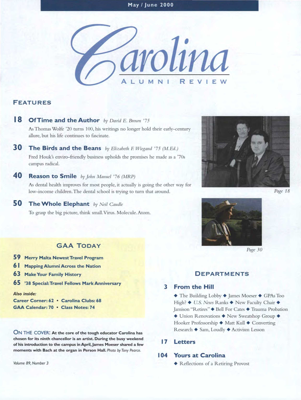 Carolina Alumni Review May June 1999 Page 1