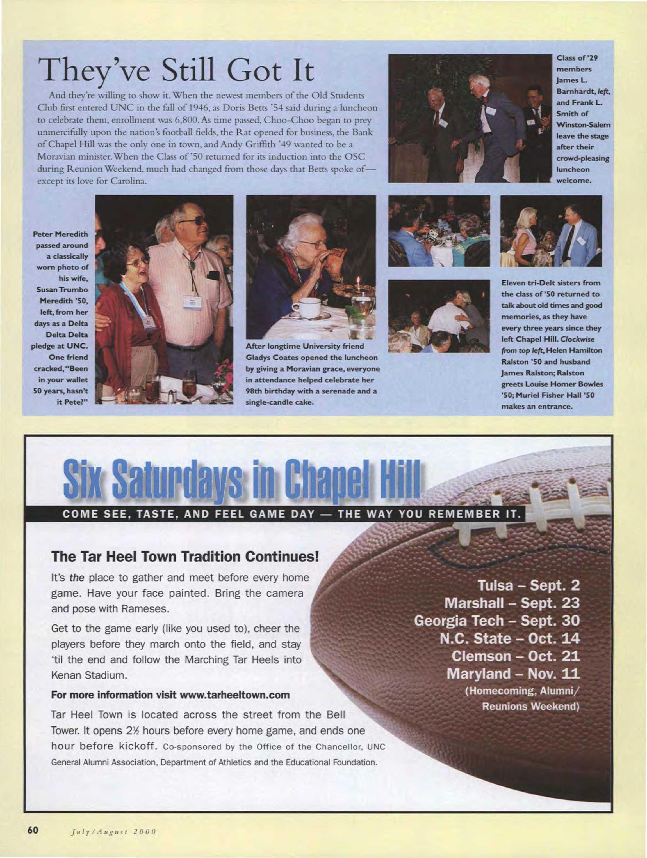 Carolina Alumni Review - July/August 2008 - page 60