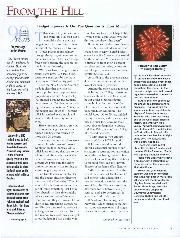 09e38ffdc8 Carolina Alumni Review - July/August 2002 - page 3