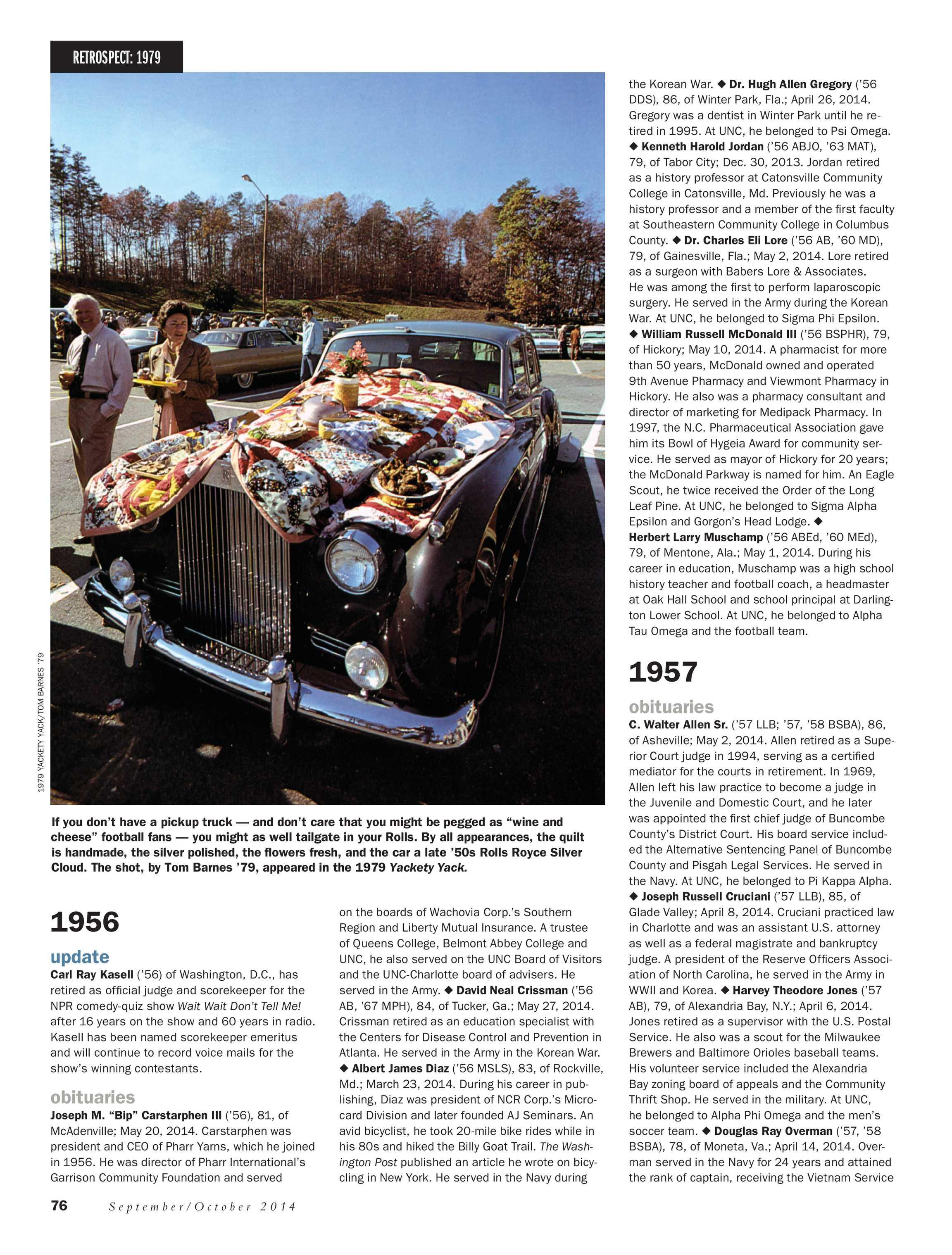 Carolina Alumni Review - September/October 2008 - page 76