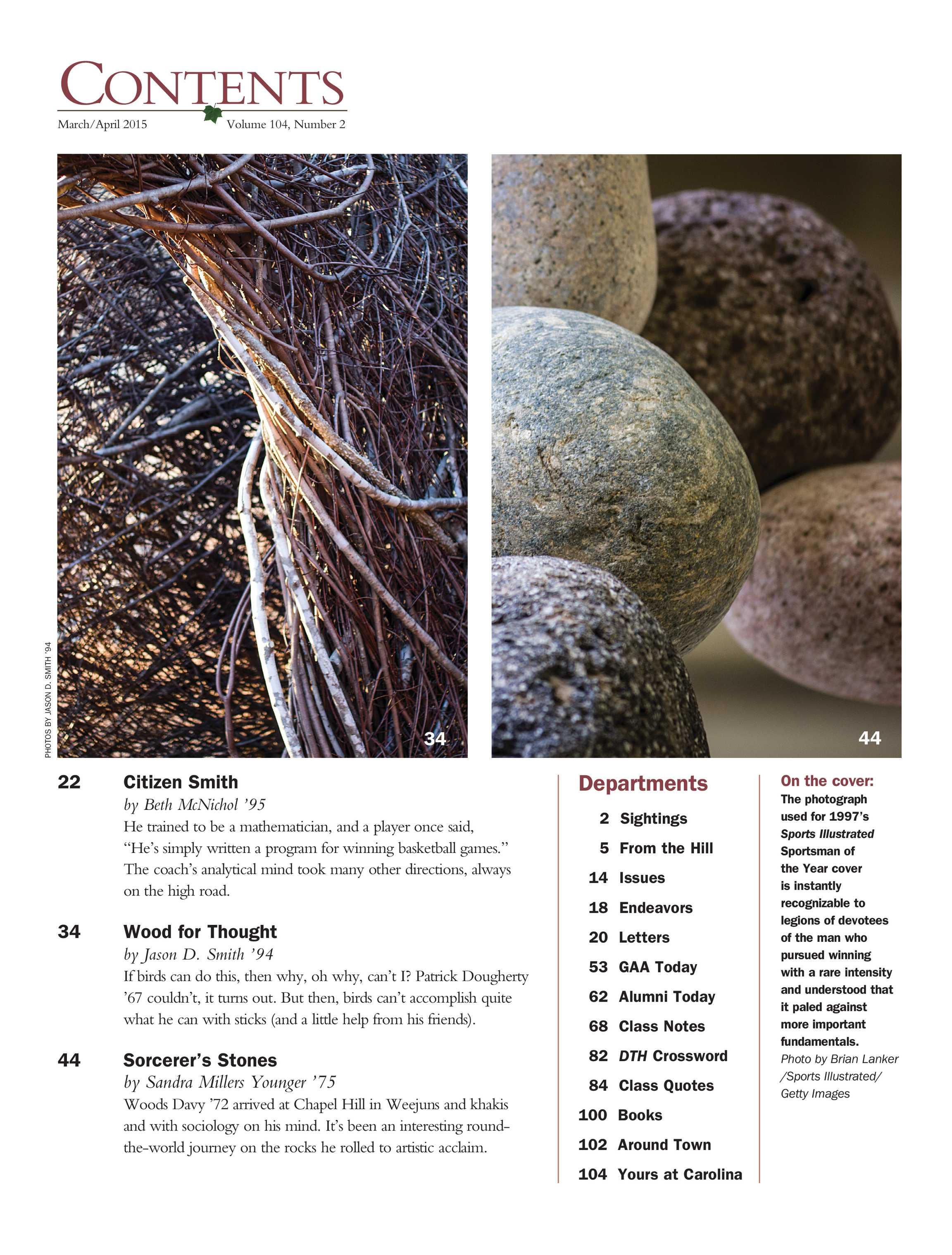 Carolina Alumni Review - March/April 2015 - page 1