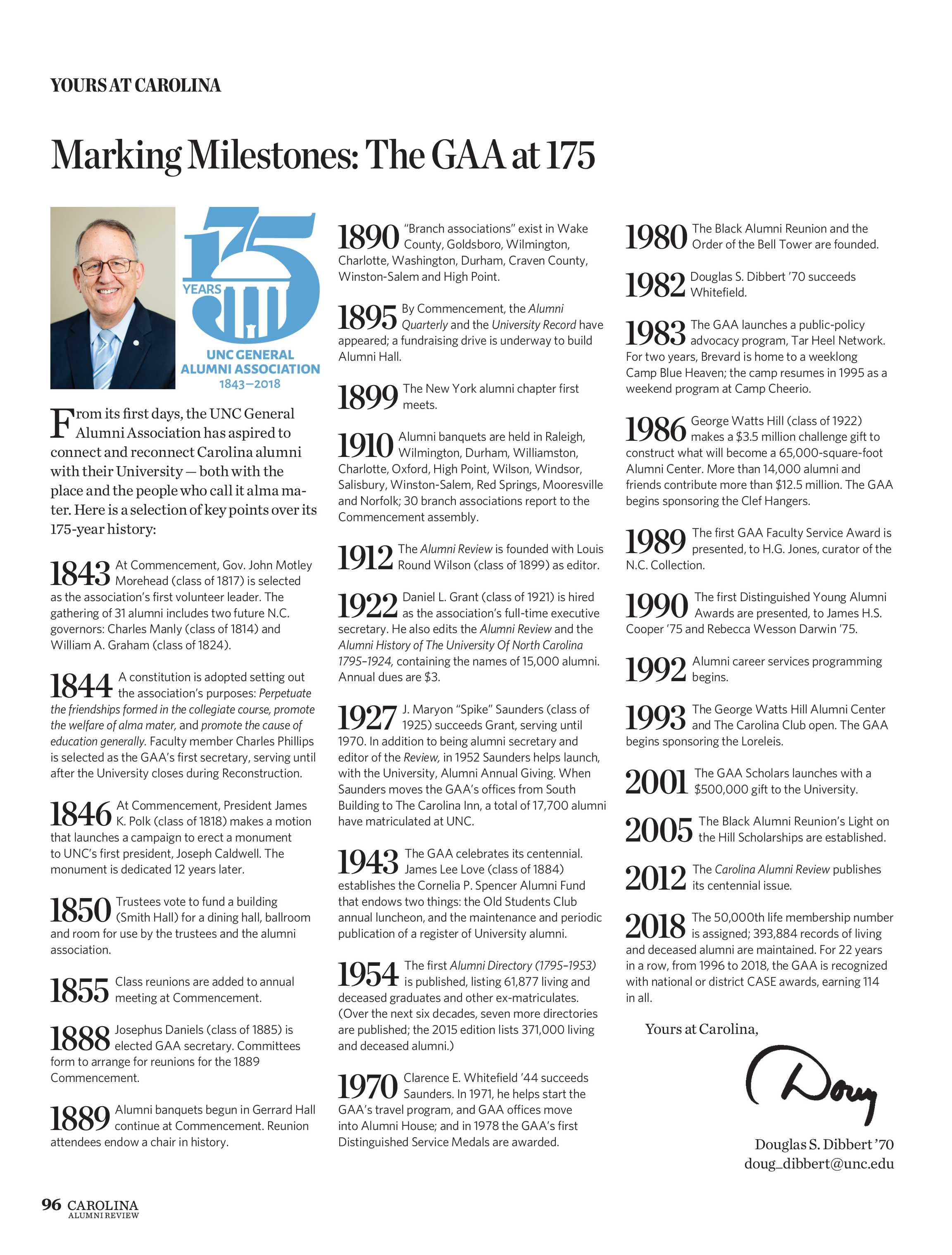 Carolina Alumni Review - May/June 2018 - page 96