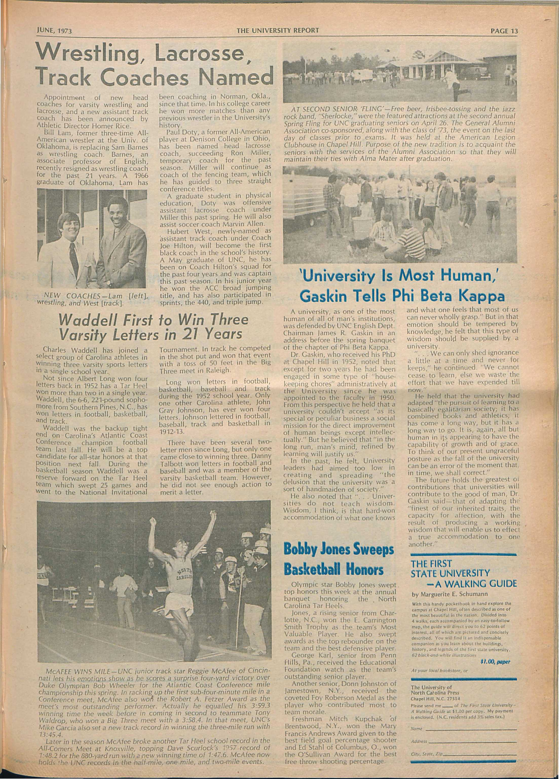 3a3e23f8cedec6 The University Report - June 1973 - page 12