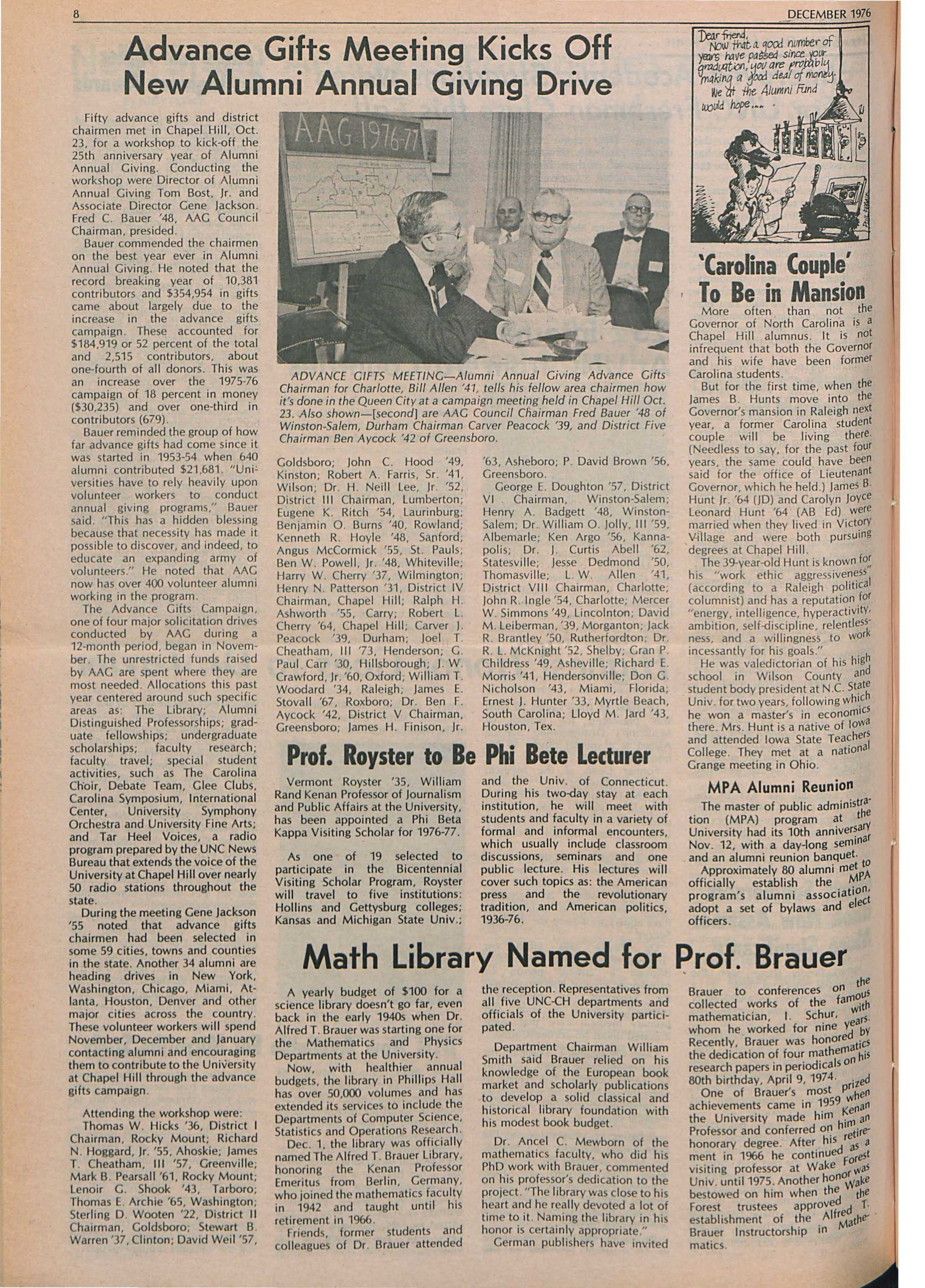 The University Report - December 1976 - page 8