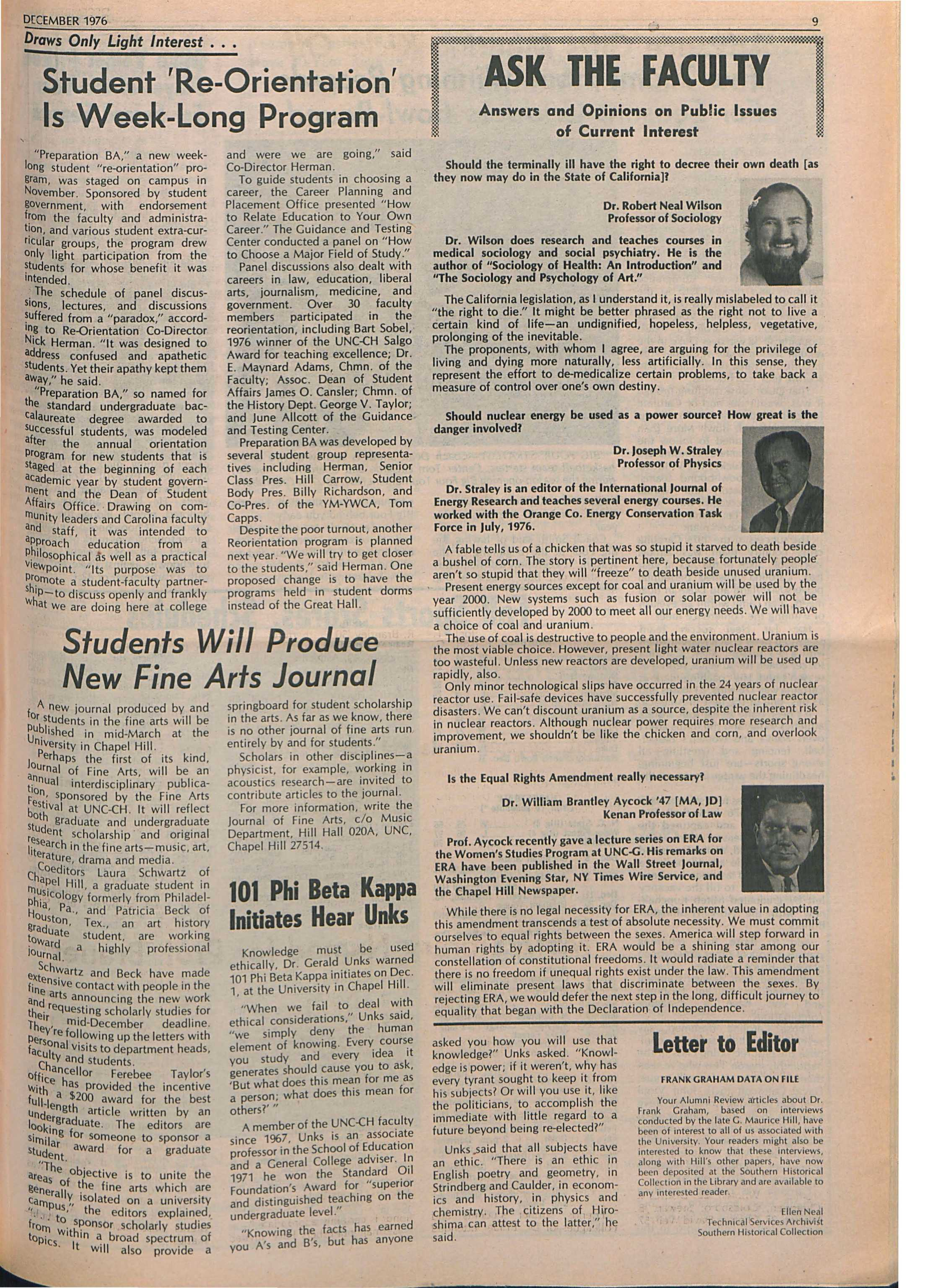 The University Report - December 1976 - page 9 7560c95372c70