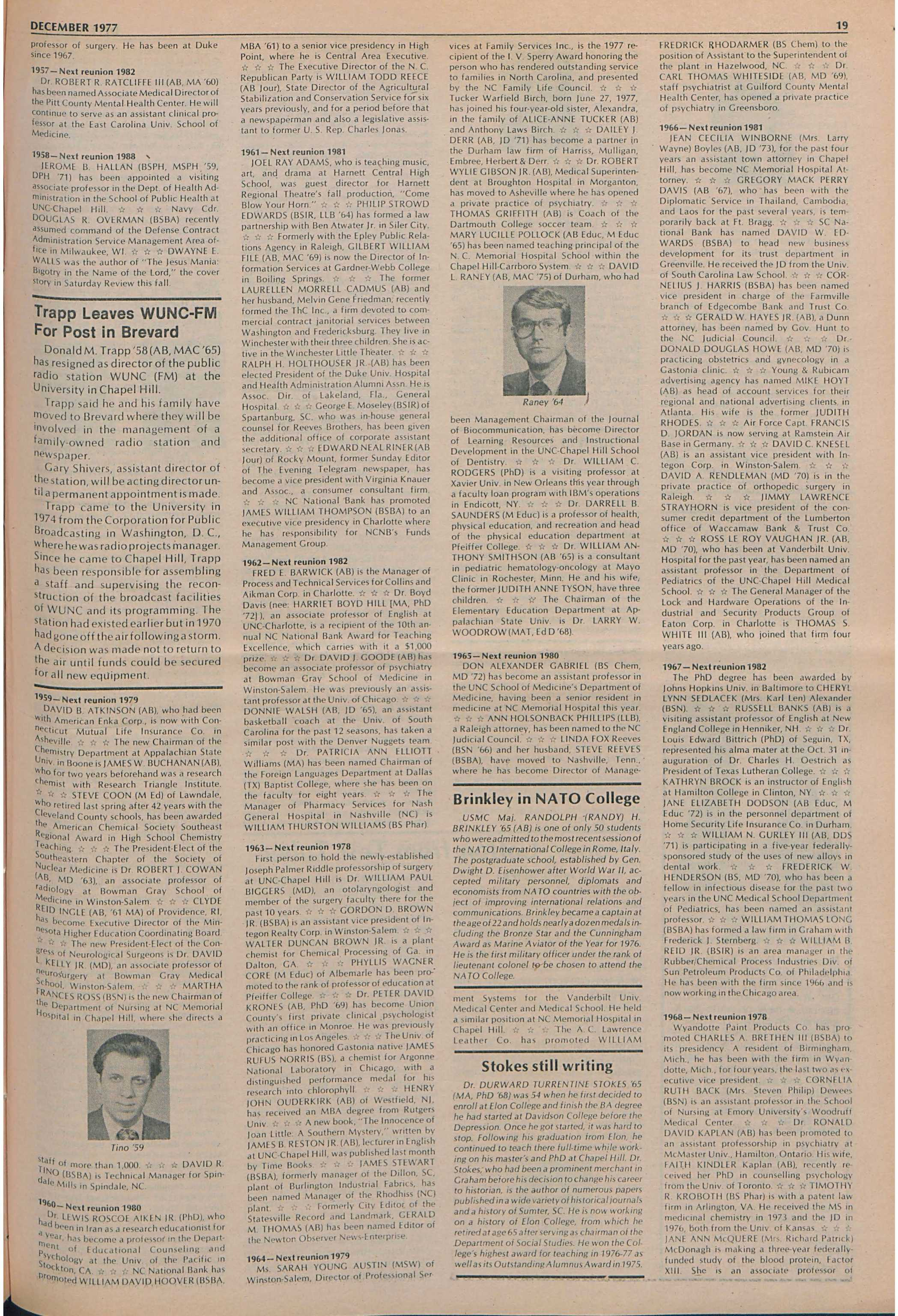 The University Report - December 1977 - page 20