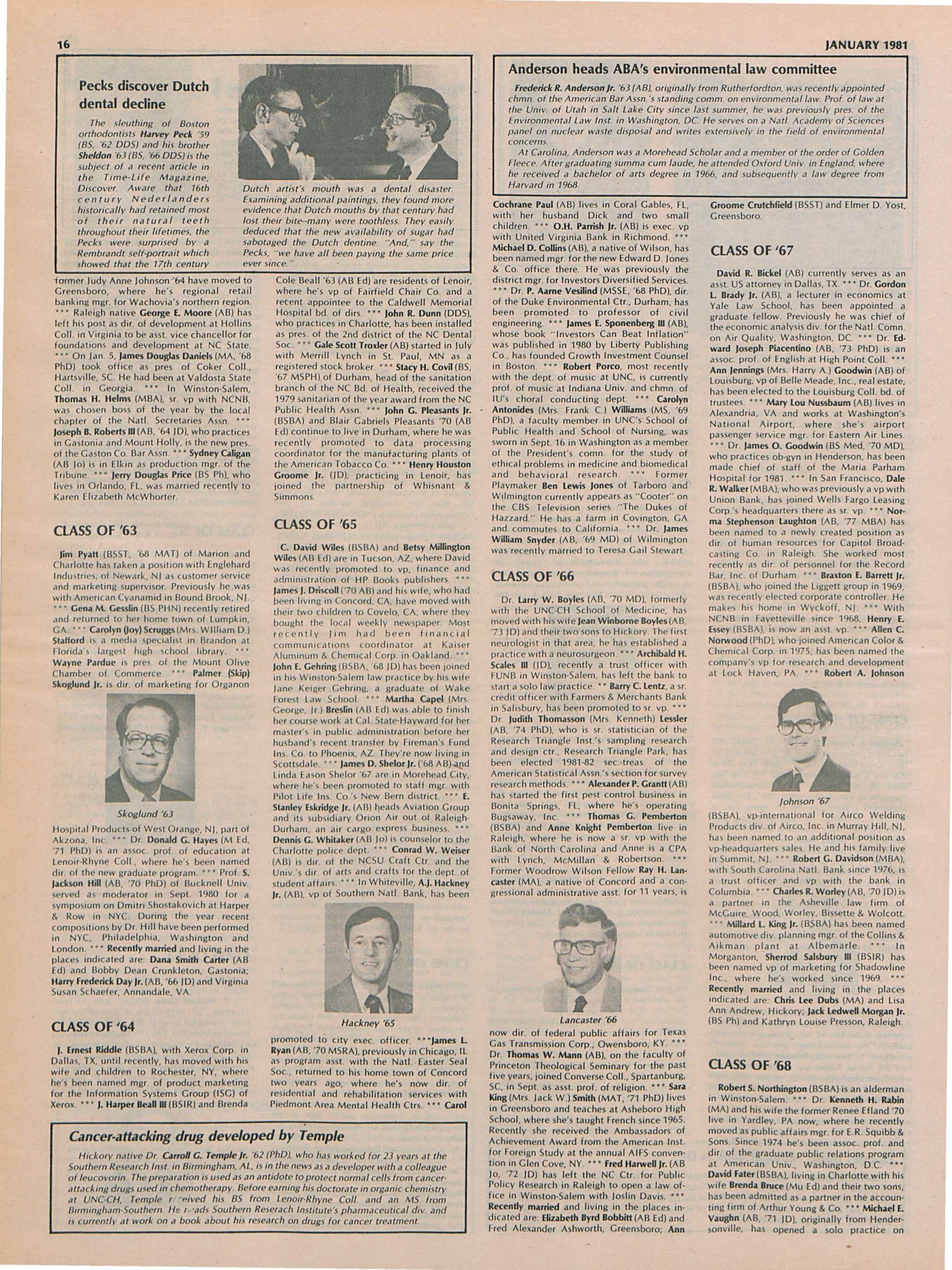 The University Report - January 1981 - page 17