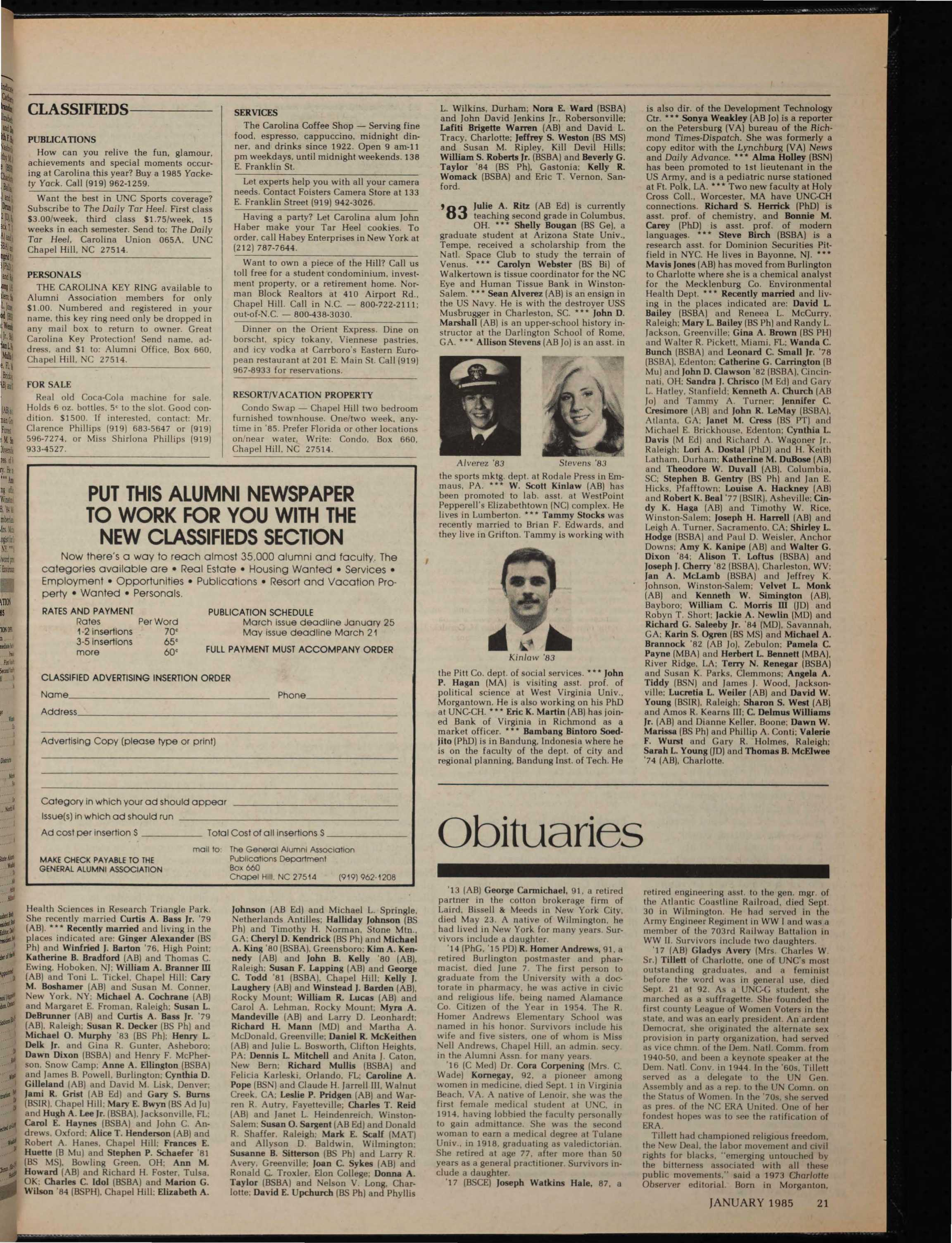The University Report - January 1985 - page 21
