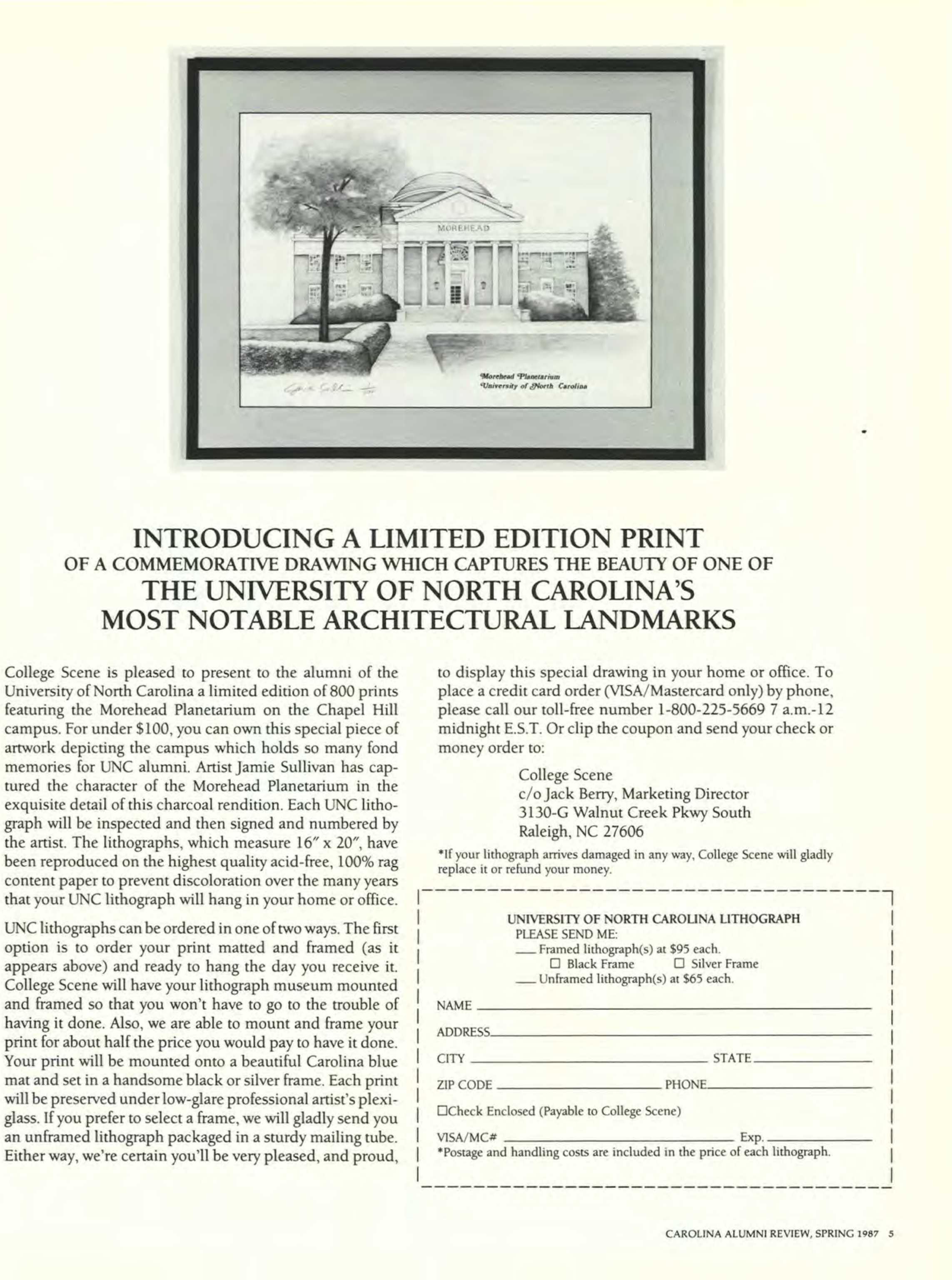 Carolina Alumni Review - Spring 1987 - page 6