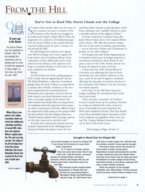 caa18adebf Carolina Alumni Review - September/October 2002 - page 3